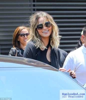Photos: Chrissy Teigen steps out in matching colour with husband John Legend for brunch